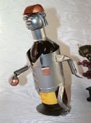 Porte bouteille joueur de pétanque